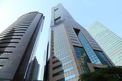 Ansicht von Wolkenkratzern in Singapur Lizenzfreies Stockbild