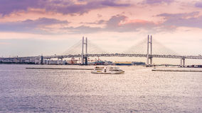 Ansicht von Yokohama-Bucht Stockbild