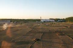Ansicht von Zug Pekings Airport Express stockbild