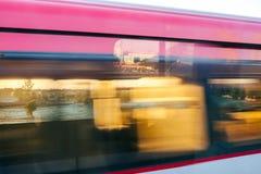 Ansicht von Zug Pekings Airport Express lizenzfreies stockbild