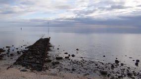 Ansicht Wadden-Meer stockbild