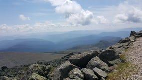 Ansicht weg von der Spitze des Bergs Washington Stockbilder