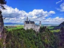 Ansicht weltberühmten Neuschwanstein-Schlosses, Fussen, Südwestenbayern, Deutschland lizenzfreies stockbild