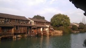 Ansicht Wuzhen Watertown Winter China stockfoto