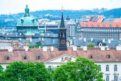 Ansicht am zentralen Teil von Prag lizenzfreie stockfotografie