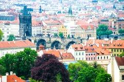 Ansicht am zentralen Teil von Prag stockbilder