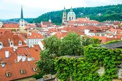 Ansicht am zentralen Teil von Prag stockfotos