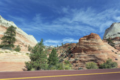 Ansicht Zion Nationalparks lizenzfreie stockbilder