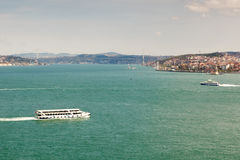 Ansicht zu Bosphorus, Istanbul, die Türkei Lizenzfreie Stockbilder