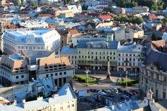 Ansicht zu den Hausdächern in Lvov-Stadt Lizenzfreies Stockbild