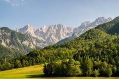 Ansicht zu den julianischen Alpen Lizenzfreie Stockfotos