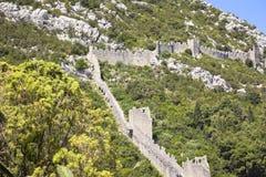 Ansicht zu den langen Wänden von Ston, Kroatien Lizenzfreie Stockfotografie