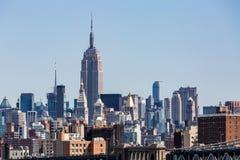 Ansicht zu den Stadtmitte-Skylinen von New York Lizenzfreie Stockfotos