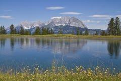 Ansicht zu den wilderen Kaiser Bergen Lizenzfreies Stockbild