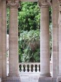 Ansicht zu einem Garten Stockbilder
