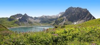 Ansicht zu Gletscher Lunersee und Brandner, Österreich Lizenzfreie Stockfotografie