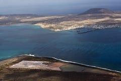 Ansicht zu Insel La Graciosa lizenzfreie stockbilder