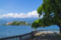Ansicht zu Isola Bella lizenzfreies stockfoto