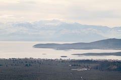 Ansicht zu Itea am Winter Stockbild