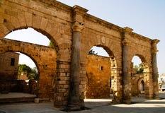 Ansicht zu Namik Kemal Dungeon bei Famagusta in Nord-Zypern, Zypern stockbild