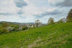 Ansicht zu Neusalza Spremberg stockbilder