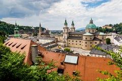 Ansicht zu Salzburg-Stadt, Österreich lizenzfreies stockbild