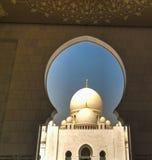 Ansicht zu Sheikh Zayed Mosque, Abu Dhabi, UAE Stockfoto