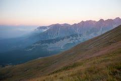 Ansicht zu Tatra-Bergen, Polen Lizenzfreies Stockbild