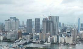 Ansicht zu Tokyo-Bucht von Shiodome-Bereich Stockbild