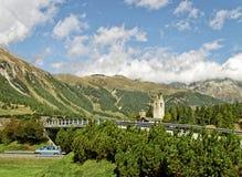 Ansicht zum Berg Stockfotografie