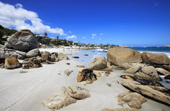 Ansicht zum Clifton Strand in Kapstadt Stockbild