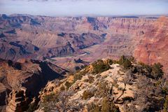 Ansicht zum Colorado, Grand Canyon, Arizona, USA Stockbild