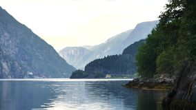 Ansicht zum Fjord in Norwegen stock video
