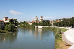 Ansicht zum Fluss in Verona Stockbild
