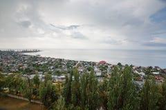 Ansicht zum Hafen von Berdyansk Lizenzfreies Stockfoto