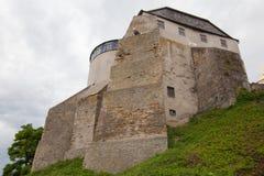 Ansicht zum historischen Schloss in Ostrog, Rivne-Region Lizenzfreies Stockbild