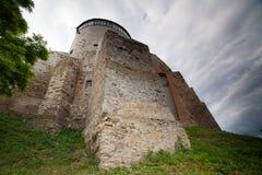 Ansicht zum historischen Schloss in Ostrog, Rivne-Region Lizenzfreie Stockfotografie