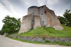 Ansicht zum historischen Schloss in Ostrog, Ukraine Stockfotos