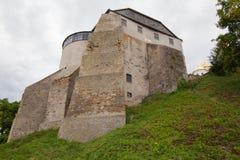Ansicht zum historischen Schloss in Ostrog, Ukraine Stockbilder