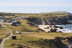 Ansicht zum kleinen Dorf nahe Durness Lizenzfreie Stockfotografie