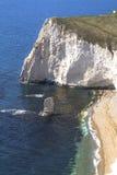 Ansicht zum Kopf des Hiebes, Juraküste, Dorset lizenzfreie stockbilder
