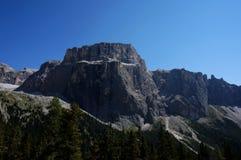 Ansicht zum massiv schaukelt in sella Gruppe in Süd-Tirol/in den Dolomit lizenzfreies stockfoto