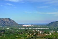 Ansicht zum Mittelmeer in Spanien Stockfotos