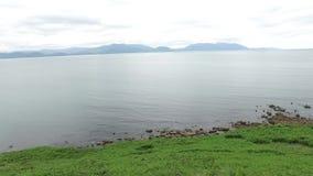 Ansicht zum Ozean an der wilden atlantischen Weise in Irland 70 stock footage