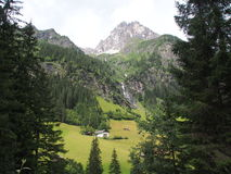 Ansicht zum tribulaun Berg, Süd-Tirol, Italien, Europa Lizenzfreie Stockbilder