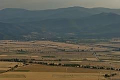 Ansicht, zum von Balkan-Tal von Balkan-Berg einzuspringen Lizenzfreie Stockfotos