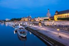 Ansicht zur alten Stadt von Dresden Lizenzfreie Stockfotos