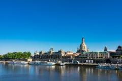 Ansicht zur alten Stadt von Dresden, Deutschland Stockfotos