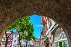 Ansicht zur alten Stadt von Herborn, Deutschland lizenzfreie stockbilder