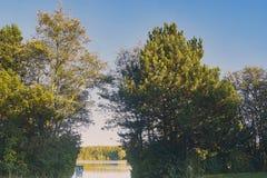 Ansicht zur Bewahrungszone am See viehofen Stockfotografie